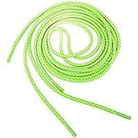 Cordones de zapato - TOOGOO(R) Cordones de cuerda redonda 3M reflectante de zapatos de carrera (estilo-B verde fluorescente)