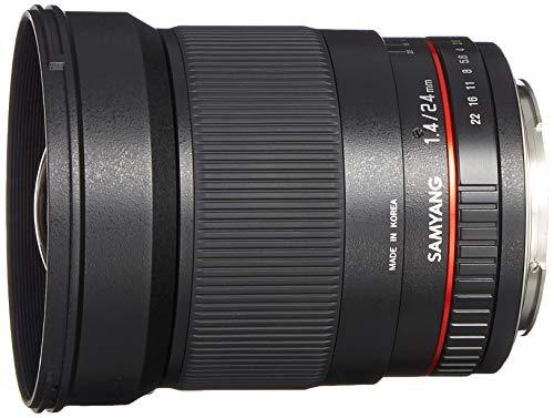 Samyang 24/1,4 Objektiv DSLR Canon EF manueller Fokus Fotoobjektiv, Weitwinkelobjektiv schwarz