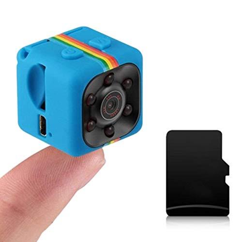 Lovearn Mini Camera SQ11 Camcorder HD 1080P Camcorder Sport Mini-DV-Videorecorder Spion-Kameras mit Nachtsicht und Bewegungserkennung Überwachungskamera (Blue) Hidden Camera Camcorder Dvr