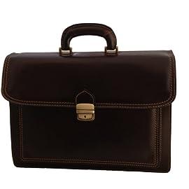 ff57bfd5b6 CTM Borsa da Lavoro Testa di Moro Cartella Porta Documenti da Uomo,  41x31x18cm, Vera Pelle 100% Made in Italy