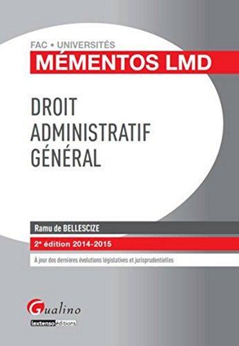 Droit administratif général 2014-2015, 2ème Ed