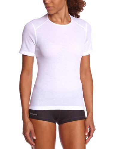 Odlo Damen Unterhemd Kurzarm Shirt S/S crew neck WARM, white, XXL, 152031