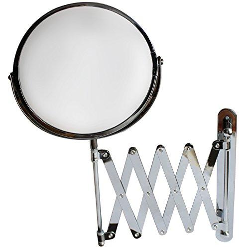 Grober Kosmetik Spiegel 18cm fur die Wand von Belle Vous–einfache und dreifache Vergroberung –...