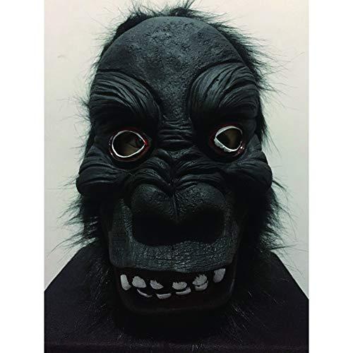 BARBEDINGROSE Affenmaske, Halloween-Horror-Schimpansen-Cosplay,A (Zombie Schimpansen Kind Kostüm)