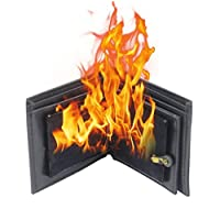 OUTANG Shock Toys Trick Wallet Magic Flame Fire Bifold Leather Wallet Prop Trick Performance Pranks Jokes Novelty Magic Toys
