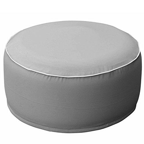 JEMIDI Outdoor Pouf Sitzkissen Sitzsack Wasserabweisend Sitzhocker Hocker Luftkissen Kissen Terrassen Sack Grau