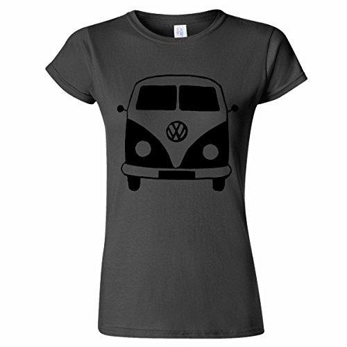 VOLKSWAGEN-CAMPER-VAN-VW-FRONT-VIEW-STENCIL-WOMENS-T-SHIRT-CLASSIC