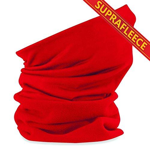 Schlauchschal aus Mikrofaser   Schlauchtuch   Neckwarmer   Halstuch   Bandana   Multifunktionstuch   Kopftuch   vielseitig und in verschiedenen Farben (Suprafleece Classic Red)