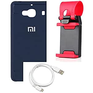 NIROSHA Cover Case USB Cable Mobile Holder for Xiaomi Redmi 2s - Combo