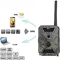 ZHENYAO MMS GPRS SMS Hunting Camera Trail Game Scouting Wildlife Hunting 12MP HD Digital Camera 940nm IR LED Video Recorder Rain-Proof