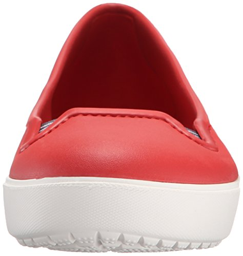 crocs Damen Citilaneflatw Clogs, Schwarz Rot (Flame/White)