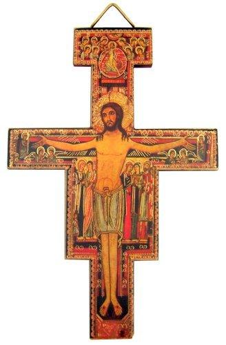 religiösen katholischen Geschenk Saint Francis von Assisi Tau Kreuz San Damiano Aufhängen Dekoration Wand Kruzifix