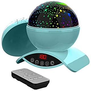 Foreita Night Light Star Projector, 8 Color Rotation Lamp with Timer Remote and Chargeable,Dimmable Combinations Romantic Starry Sky Best Gift for Kids Festival Bedroom Living Room (Green)