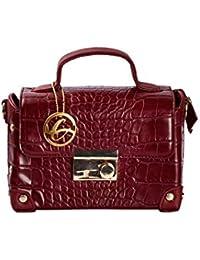 Shopclans Brown Color Handbag For Girls / Women's L Material: Faux Leather (SPC-033)