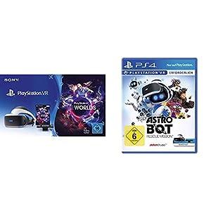 PlayStation VR inkl. Camera und VR Worlds Voucher [neue Version] + Astro Bot Rescue Mission [PS4]