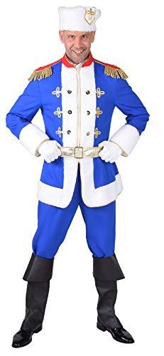 Erwachsenen Kosaken Kostüm Für - M218234-M blau-weiß Herren Kosaken Kostüm Kosake Gr.M