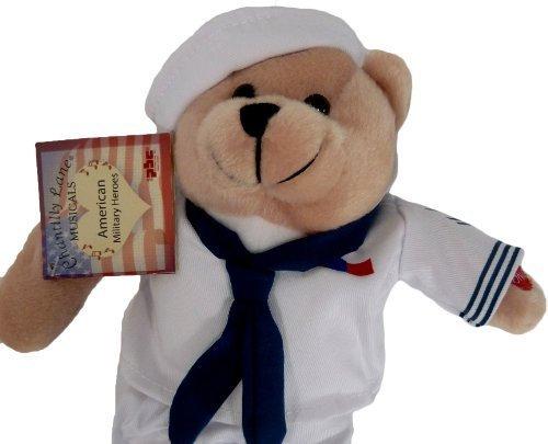 Plush Bear Chantilly Lane 11 Inch Singing Military Hero Navy Anchors Away by Chantilly Lane