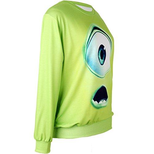 Belsen Damen T-Shirt Einheitsgröße 3D cute eyes