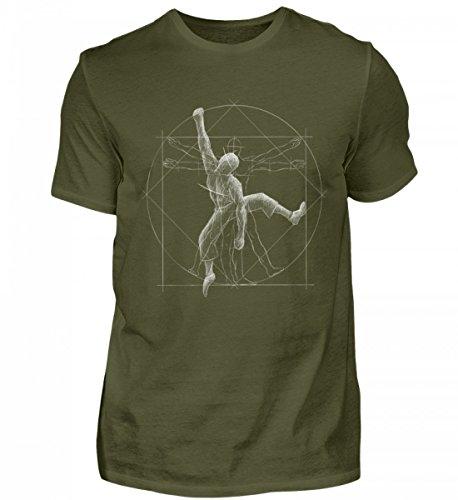 Bouldernder Kletternder vitruvianischer Mensch - für Boulder und Kletter-Felsen Fans - Herren Shirt