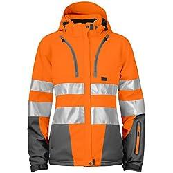 Projob 646424–17–9–Cazadora forrada Dame- alta visibilidad, talla 3X L, Naranja/Gris