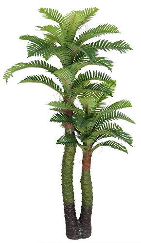 Decovego Palme Palmenbaum Königspalme Cocospalme Künstliche Pflanze Kunstpflanze Kunstbaum 140cm