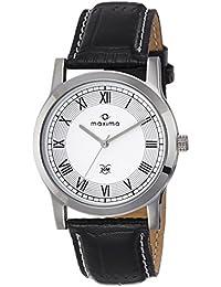 Maxima Analog White Dial Men's Watch-44674LMGI