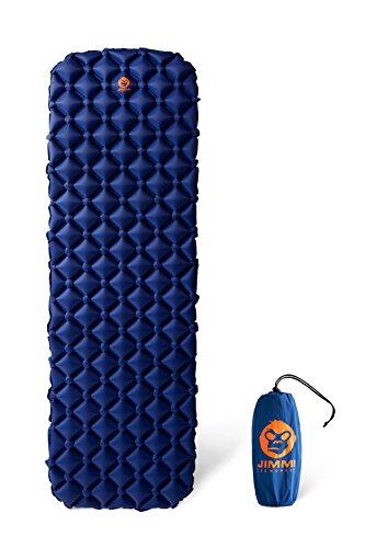 Jimmi the Monkey Ultraleichte kompakte aufblasbare Schlaf- und Isomatte für Camping und Liege-Matte für Outdoor, Reise, Backpacking, Trekking und Wandern (blau)