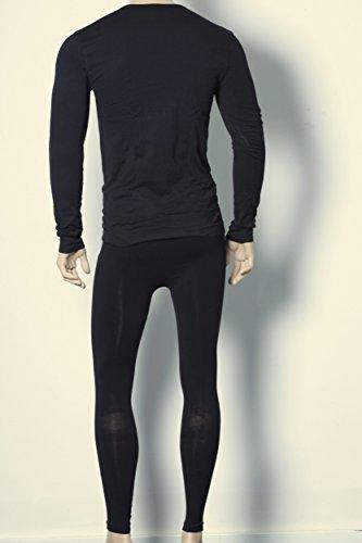 Herren Unterwäsche,klassisch fein nahtlos, Set aus Shirt und Hose ( Herren Unterwäsche Sport Funktionswäsche SmoothSkin PerfectFit Premium Qualität) schwarz