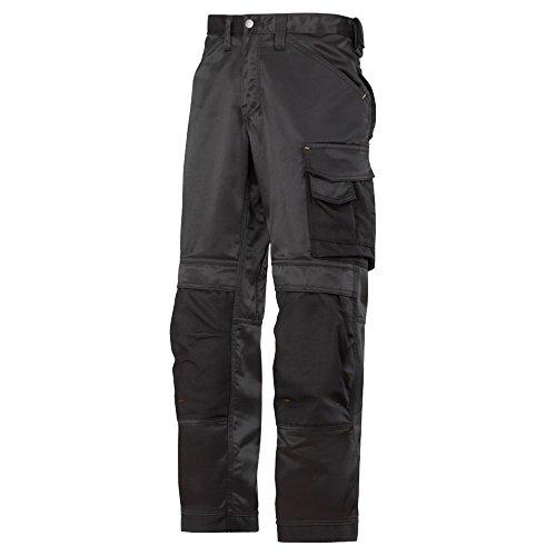 Snickers DuraTwill, pantaloni da lavoro, nero, 33120404048