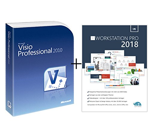 Original Microsoft Visio 2010 PRO (Professional Plus) Lizenzschlüssel + Lizenza USB Stick Deutsch inklusive Workstation 2016 für Office