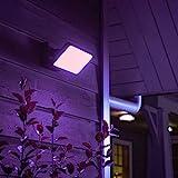 Philips Hue White & Color Ambiance Discover Flutlicht, schwarz | LED-Strahler für den...