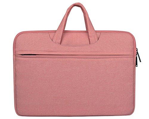 Sacoche Manche Portable Sac à main Porte-documents Sacoche d'ordinateur portable Avec Poignée Housse de Protection d'Ordinateur 13.3' Pink
