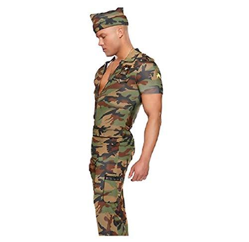 Herren Camouflage Militär Armee Sergeant Kostüm mit Hut ()