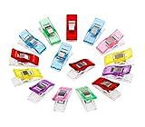 FLowcc Lot de 50Pcs Clips Pinces en Plastique pour Reliure Couture Artisanat (Mixcolor)...