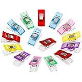 FLowcc Lot de 50Pcs Clips Pinces en Plastique pour Reliure Couture Artisanat (Mixcolor)