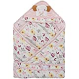 Mee Mee Cozy Cocoon Baby Wrapper With Hood, Elephant Patch, Pink
