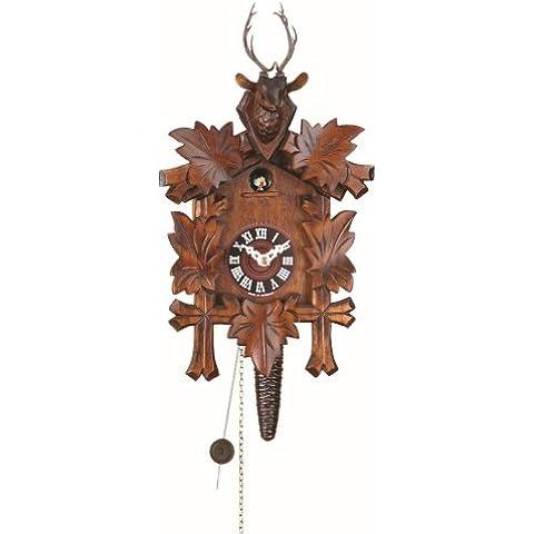 Reloj cucú 5 folllajes, cabeza de ciervo TU 624 nu