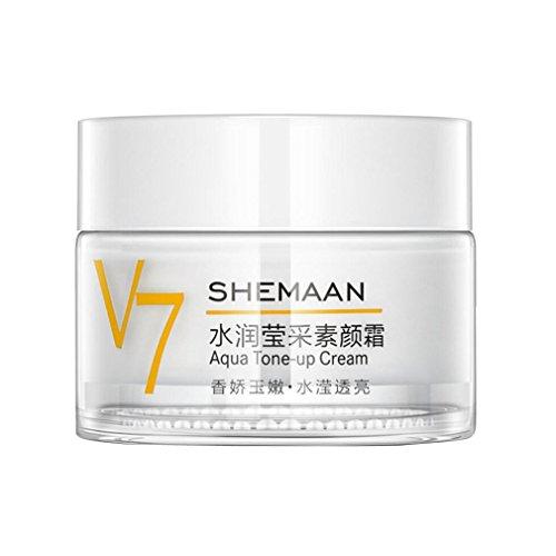 Zarupeng Natural Whitening Cream, Anti Blemish, Anti-Falten und Anti-Aging, Auffüllungs-Wasser, Antidunkelheits Akne, Sommersprosse-Haut, 50g (One Size, weiß)