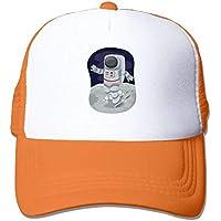 dfegyfr Astronauta en el Planeta Ajustable Deportes Malla Béisbol Camionero Gorras Sombreros de Sol Multicolor75