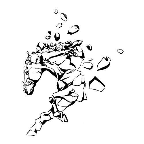 Zemn Wandaufkleber Wandbild Horse Rocks Animal Decor Vinyl Auto Aufkleber Dekor Schwarz - Animal Rock