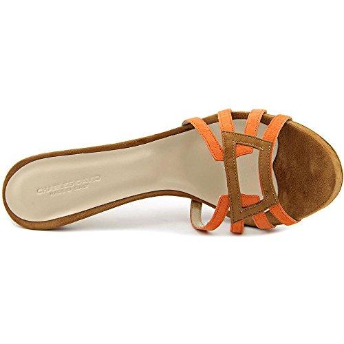 Charles David Mari Femmes Daim Sandales Orange-Multi