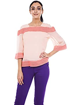 9teenagain Damas 3/4 mangas Top túnica de algodón ocasional de túnica - Tamaño disponible