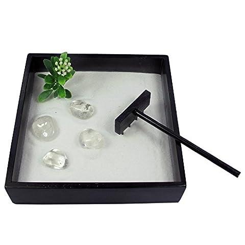Petit Jardin Zen Oriental de décoration avec Roche à quartz pierres Ménage Gifts AW