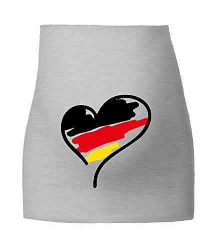 Angry Shirts Deutschland Herz für Schwangere - Fußball WM 2018 in Russland - Fanartikel - Bauchband