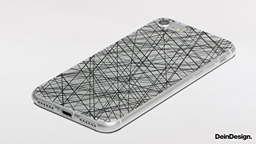 Apple iPhone 8 Plus Slim Case Silikon Hülle Schutzhülle Muster Malerei Schwarz Silikon Slim Case transparent