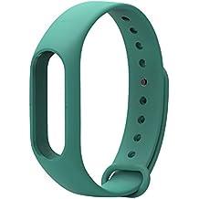 COOSA Correa de Recambio Brazalete Extensibles coloridos impermeables para reemplazo Pulsera XIAOMI Wireless Recambio para Pulsera Inteligente XIAOMI MI band 2 (sin Rastreador de actividad) (verde, para xiaomi pulsera inteligente 2)