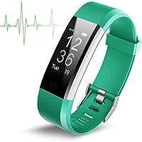 Sport wasserdichte Herzfrequenz Smart Armband,Fitness Tracker,Fitness Armbänder Aktivitätstracker,Herzfrequenzmonitor,Schlafmonitor,Schrittzähler mit 14 Trainingsmodi, 4 Uhrzeiger,GPS-Routenverfolgung,Alarme,Kameraaufnahme,USB Anschluss direkt laden für Android iOS Smartphone