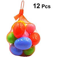BESTOYARD Huevos de Pascua rellenables de plástico Decoración de Bricolaje para Rellenos de Huevos de Pascua