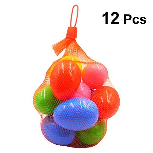 Bestoyard plastica fillable easter eggs decorazione fai da te per uova di pasqua fillers hunt gioco stuffer pasqua party favors 12pcs (colori misti)