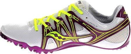 Womens Saucony Showdown Track Spikes Blanc / Violet / Citron Taille 8 M Us Blanc / Violet / Citron
